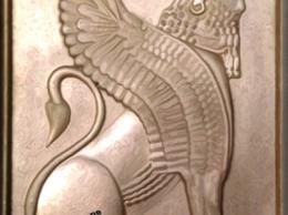 سنگ تزئینی با طرح شیر هخامنشی